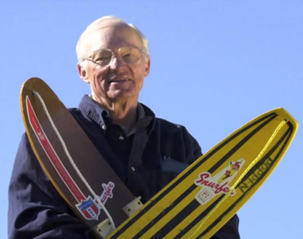 "Sherman Poppen, the inventor of the ""snurfboard."""