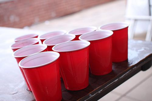 Red solo cups are the most popular attendees at college parties.