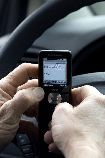 Texting while at the wheel