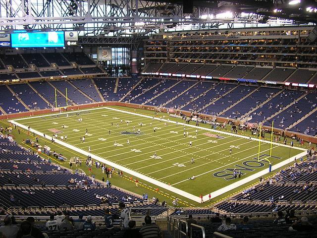 Ford Field, home of the Detroit Lions.