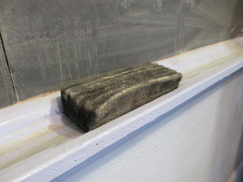 Chalkboard eraser.