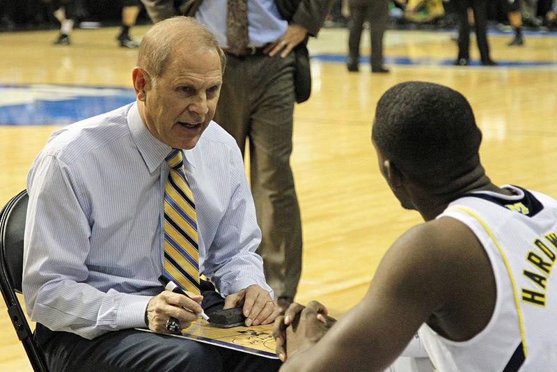 UM's John Beilein talks with Tim Hardaway, Jr.
