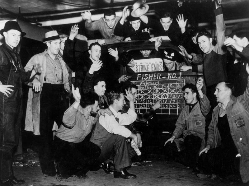The Flint sit-down strike against General Motors, Feb. 11, 1937