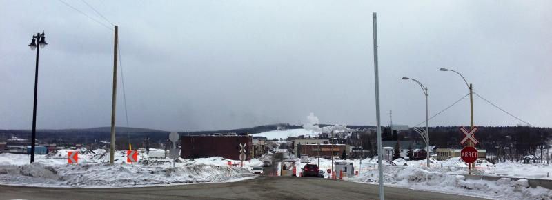 Lac-Mégantic almost eight months after a train derailed and exploded in the middle of the town.