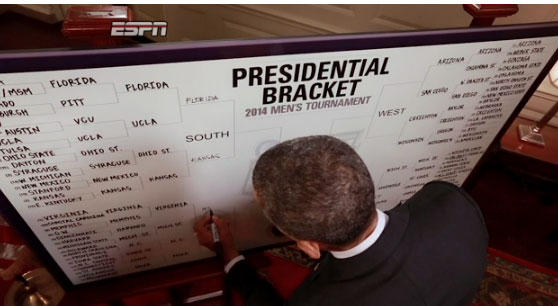 Obama making his picks on ESPN