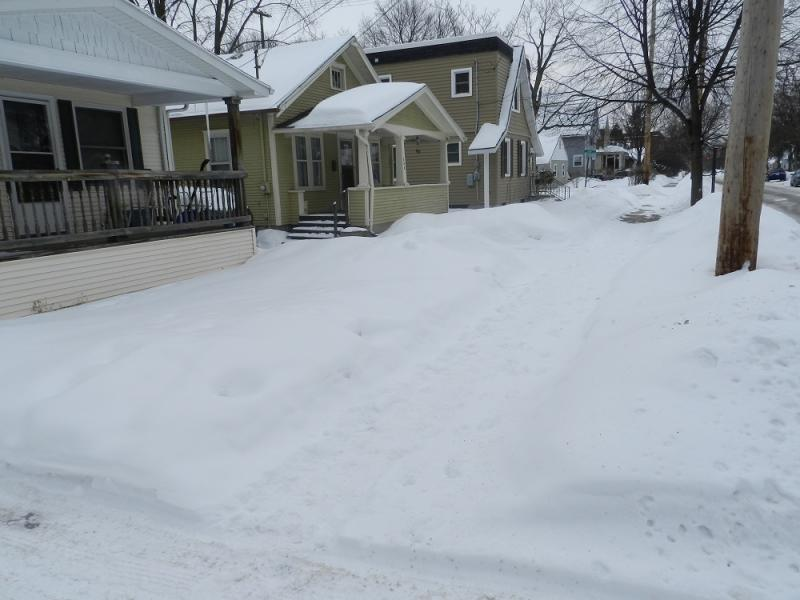 About 5% of Lansing sidewalks, roughly 22 miles, are still covered in snow in violation of city ordinance