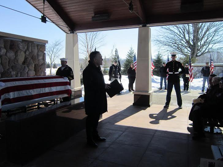 Tucker's body is laid to rest at Great Lakes National Cemetery