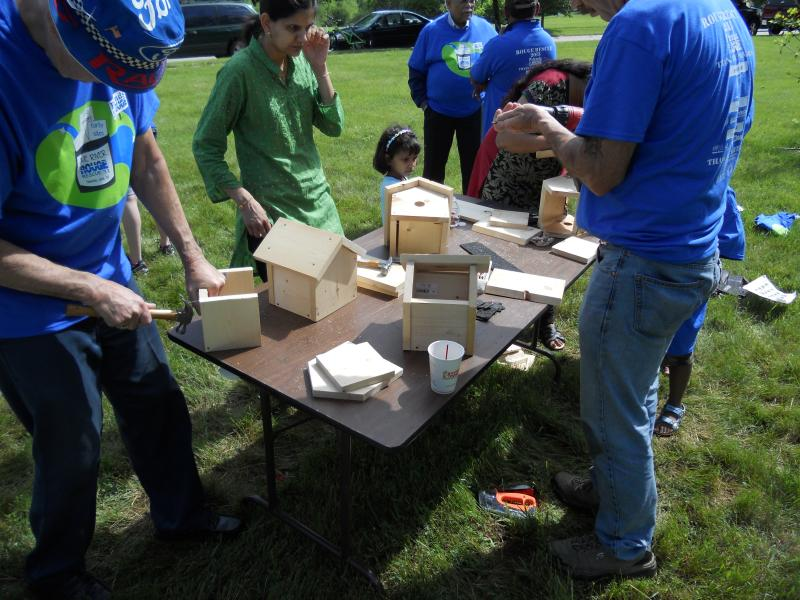Volunteers build birdhouses in Canton as part of the 2013 Rouge Rescue clean-up event. This year's event will take place on May 17 and surrounding days.