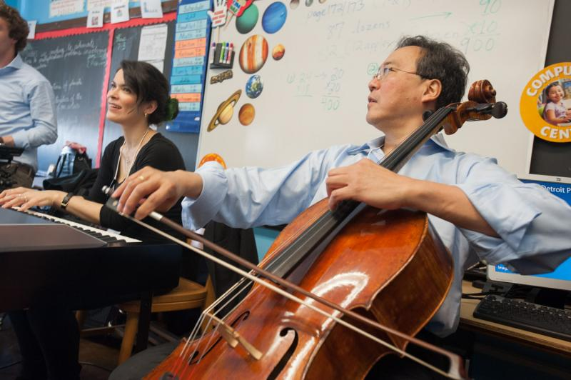 Yo Yo Ma spent his day with DPS kids. Yeah, it's adorable