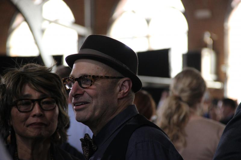 Paul Saginaw, co-founder of Zingerman's Delicatessen in Ann Arbor, Michigan. He attended the president's speech on raising the minimum wage today.