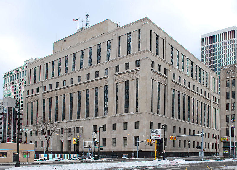 The Theodore Levin United States Courthouse in Detroit.