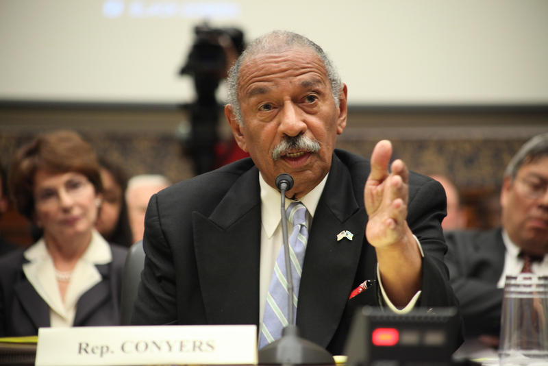 Rep. John Conyers (D-MI) testifies at a hearing in 2009.