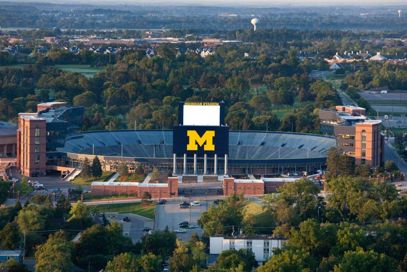 Michigan Stadium in Ann Arbor.