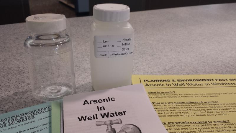 An arsenic testing kit can help private well owners know the arsenic levels in their drinking water. Michigan is one of a handful of states with unusually high arsenic concentrations in groundwater.