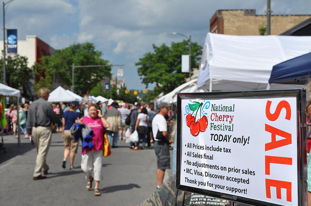 The National Cherry Festival in Traverse City runs from July 5 through July 12.