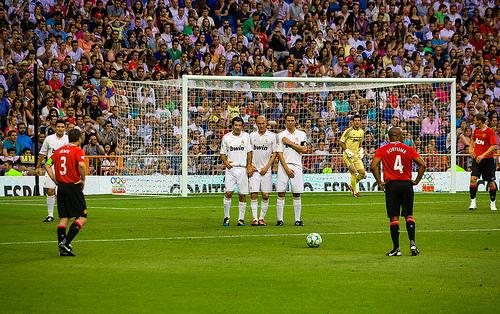 Real Madrid and Manchester United played in a Corazon Classic Match in 2012.