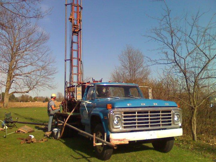 Drilling a water well in Michigan.
