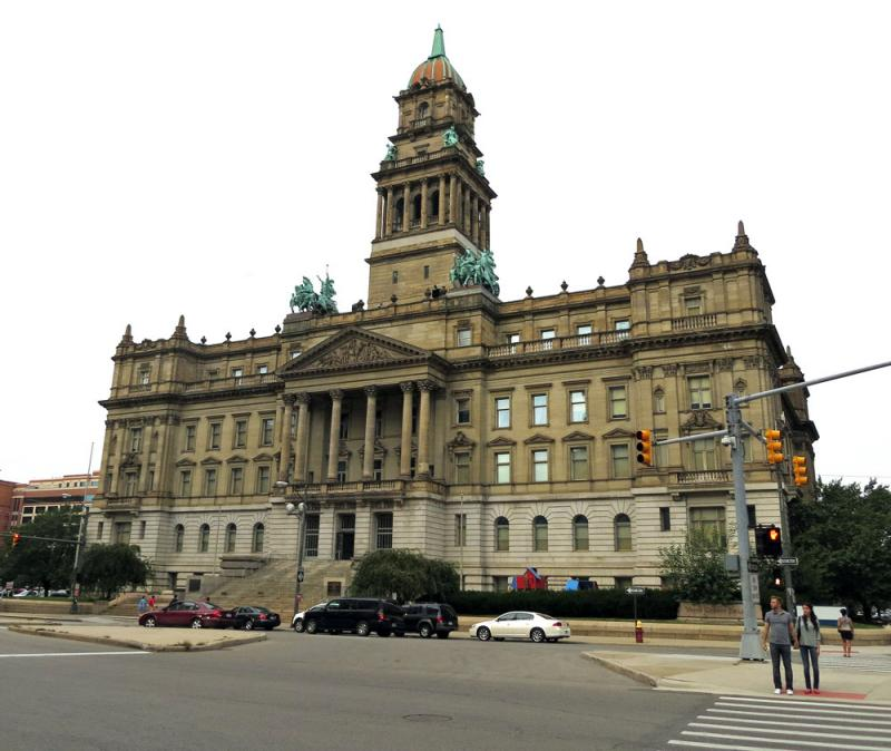 Old Wayne County Building in downtown Detroit.