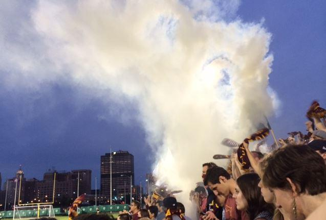 Smoke bombs smell great.