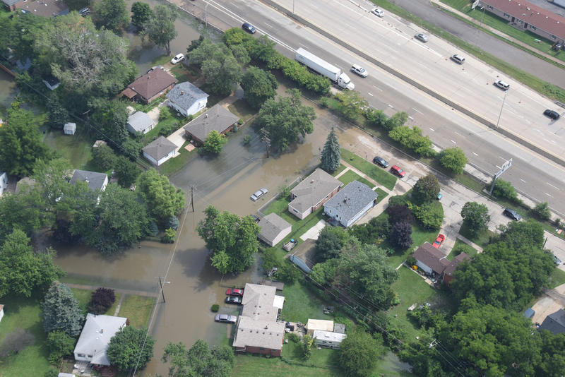 The flooding event in Detroit fits the global warming pattern, according to reports such as National Climate Assessment.