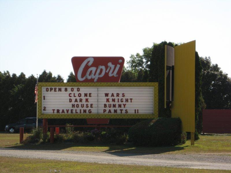 The Capri Drive-In in Coldwater, Michigan is still operating in 2014.