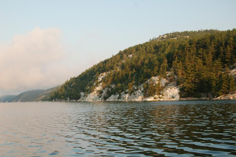 Baie Fine in Killarney Provincial Park is the only fjord in North America.