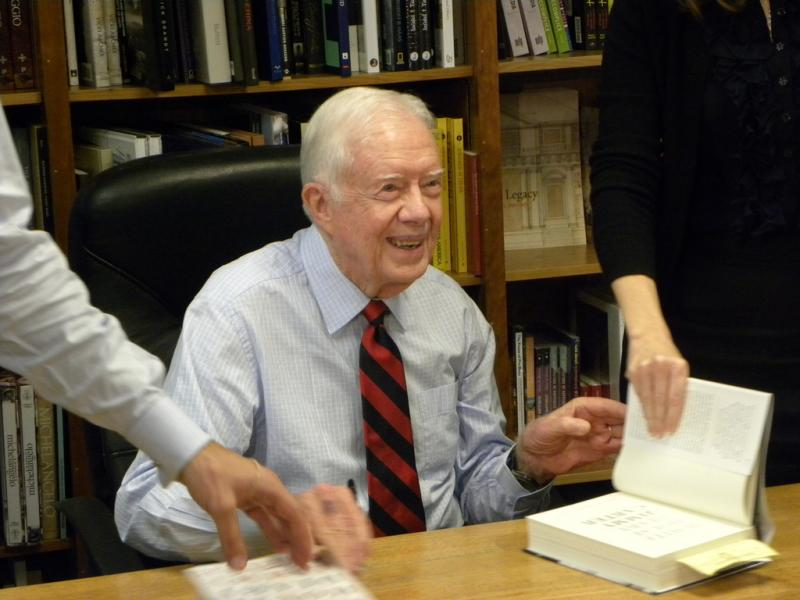 Jimmy Carter at a book signing in 2010.