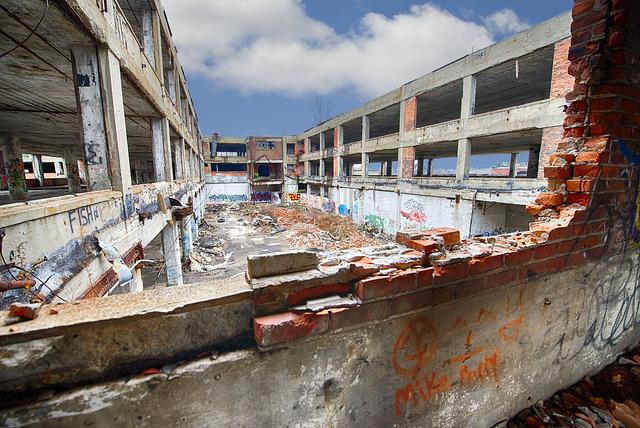 Image of the Packard Plant in Detroit. Crews could start cleaning the site soon.