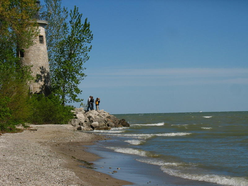 A lighthouse on Pelee Island in Lake Erie.