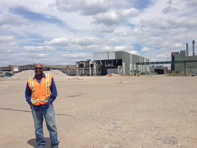 Cliff Lewis is overseeing the clean up of Willow Run facility. He is really proud to have Green Works employees working on the site.