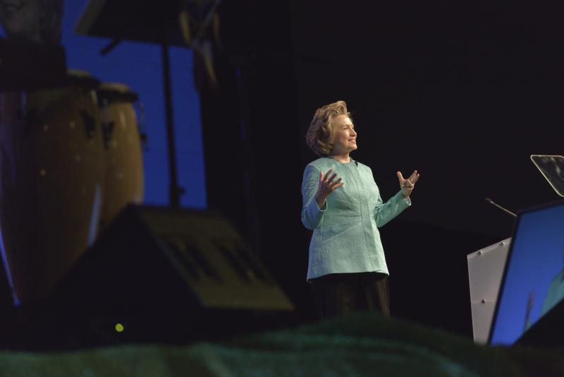 Hillary Clinton speaks in Louisville.