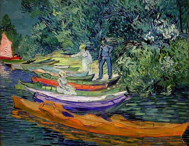 Bank of the Oise at Auvers by Van Gogh, owned by the DIA