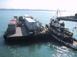 The Detroit-Windsor Truck Ferry