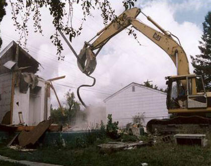 A demolition in Flint.