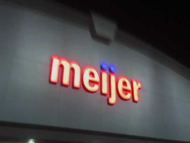 A sign for a Meijer store in Ann Arbor.