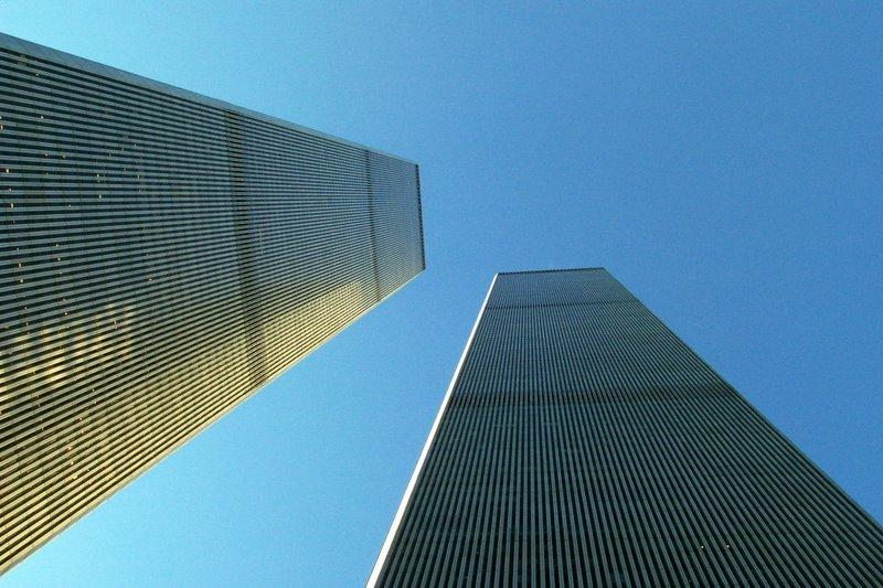 The Twin Towers of the World Trade Center in 2000.