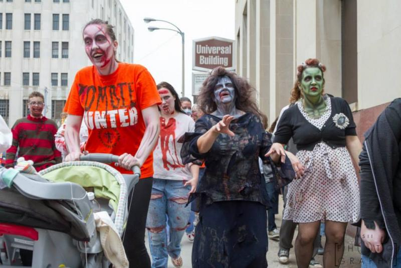 Participants in the 2013 Flint Zombie Walk