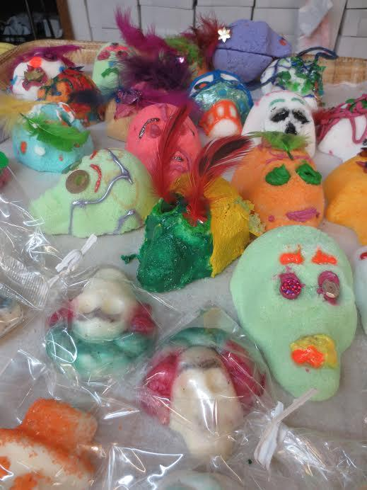 Sugar skulls are part of the Day of the Dead tradition.