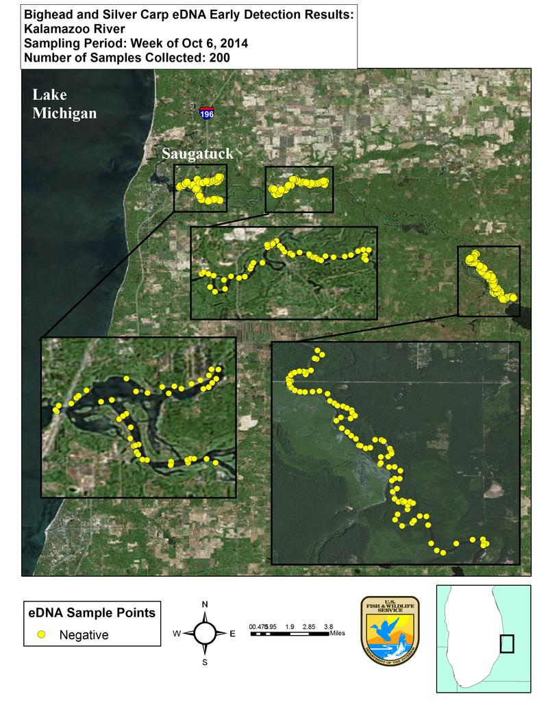 Asian Carp Michigan Radio - Asian carp map 2016 non us