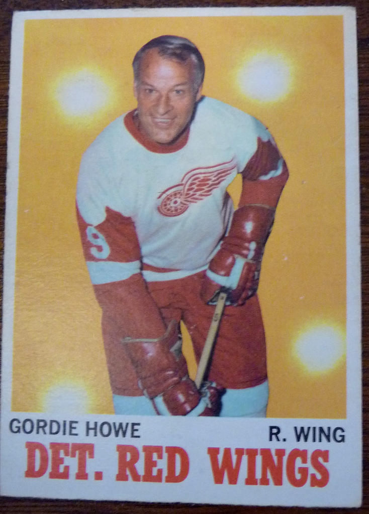 Gordie Howe's Hockey Card at age 43.