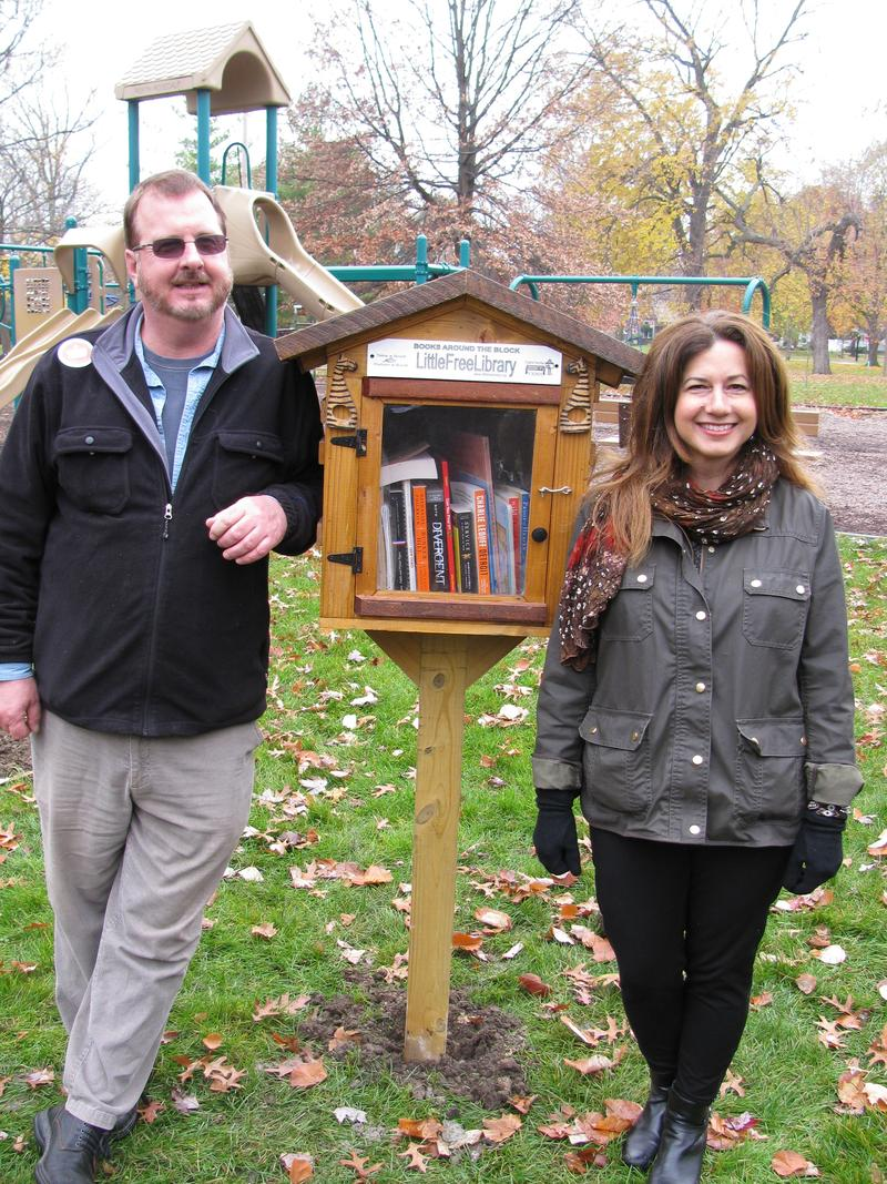 One of the Little Free Libraries in Detroit