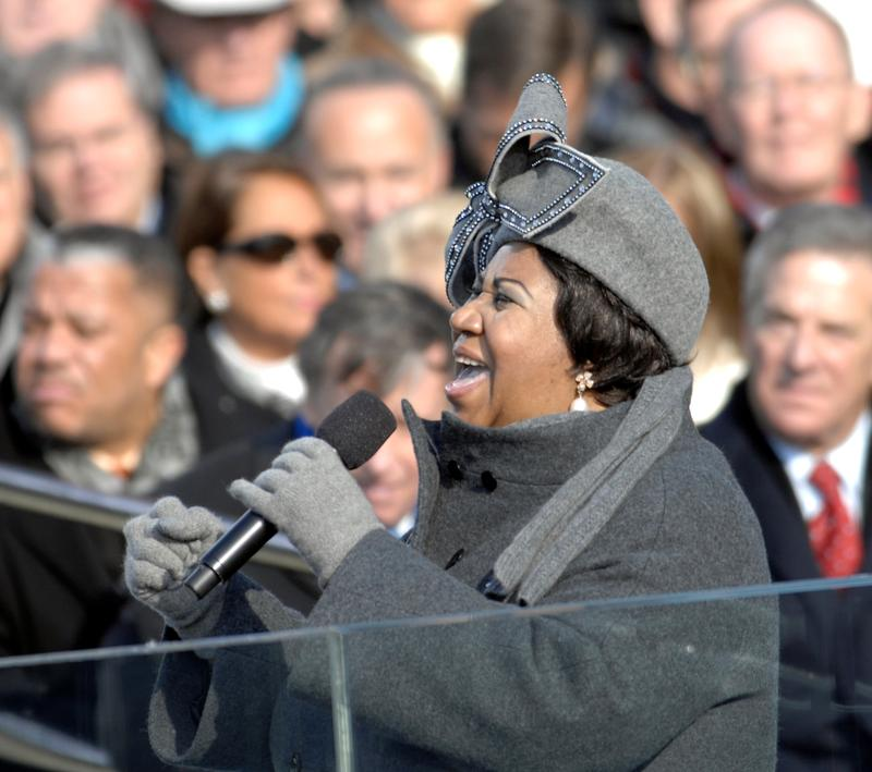 The Queen of Soul at President Obama's inauguration.