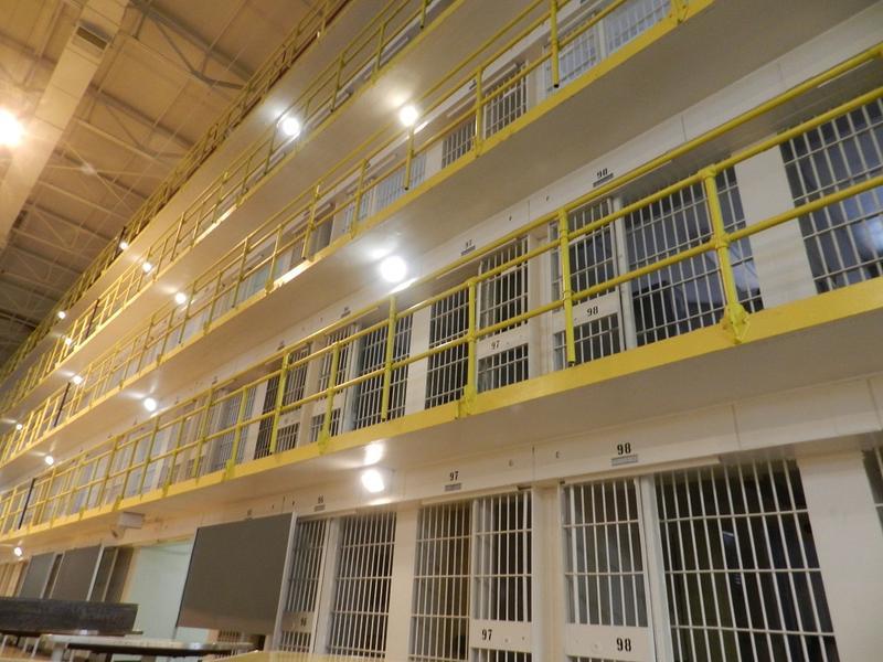 Inside Jackson Prison.