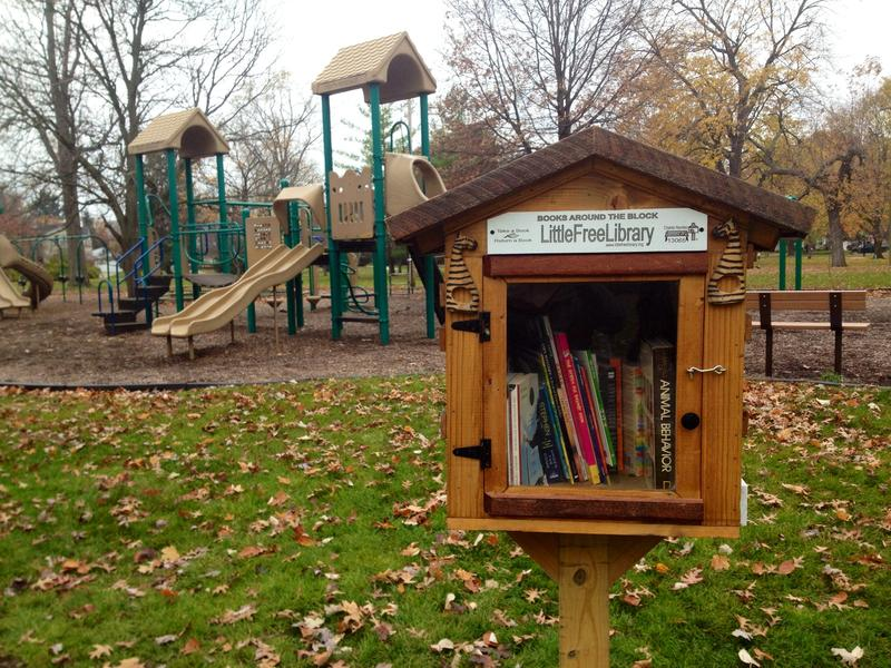 The Little Free Library in North Rosedale Park, Detroit.