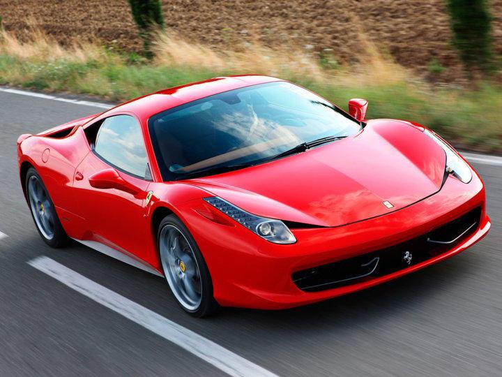 458 Italia on road