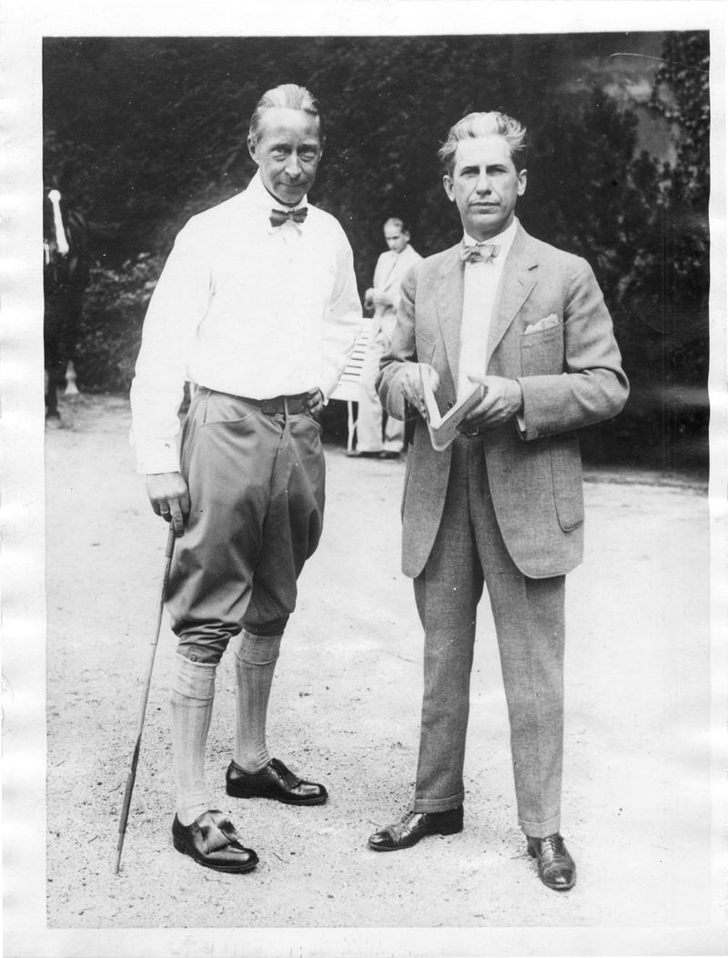 Curwood with the former crown prince of Germany, Prince Wilhelm