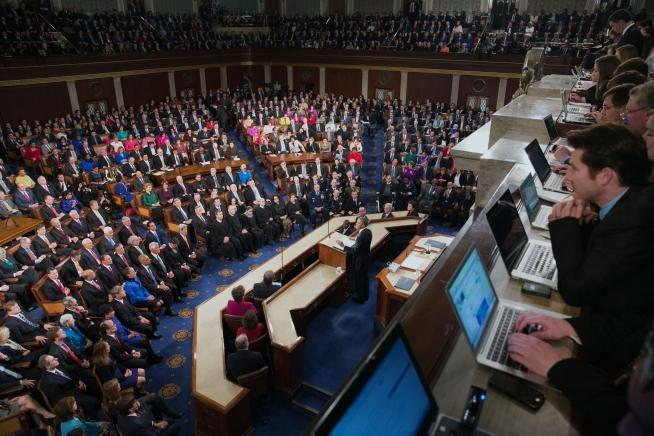 President Obama addresses Congress for his 2015 State of the Union address.