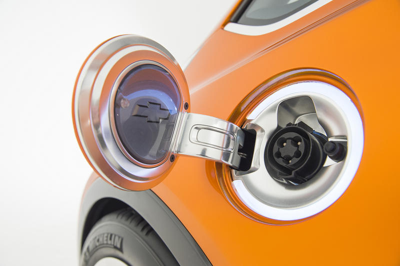 The Chevy Bolt plug receptacle.