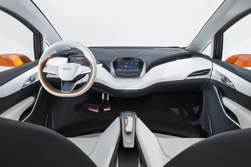 Inside the Chevy Bolt.