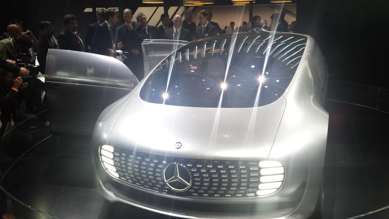 "The Mercedes F 015 ""Luxury in Motion"" concept car."